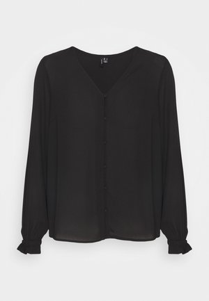 VMACACIA V NECK - Long sleeved top - black