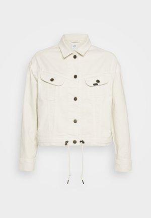RIDER DRAWSTRING - Denim jacket - buttercream