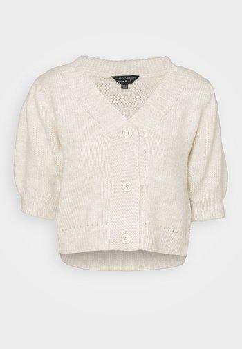 SLEEVE SOFT CROP - Cardigan - beige