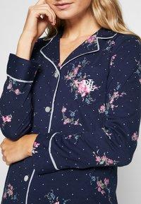 Lauren Ralph Lauren - CLASSIC NOTCH COLLAR SLEEPSHIRT - Noční košile - navy - 5