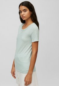 Marc O'Polo DENIM - Print T-shirt - multi/milky mint - 3