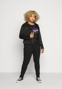 Simply Be - SEQUIN - T-shirts print - black - 1