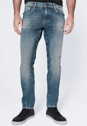 Slim fit jeans - vintage blue destroy