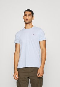 Hollister Co. - SEASONAL CREW 3 PACK  - T-shirt med print - blue - 4