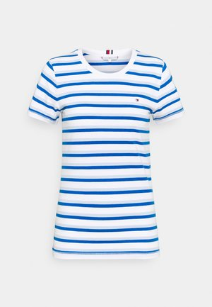 COOL SLIM ROUND - Print T-shirt - ombre/weet blue