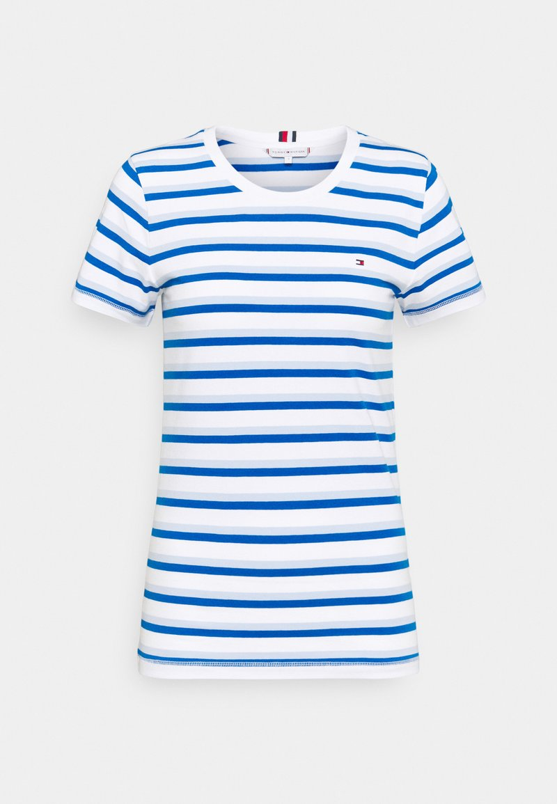 Tommy Hilfiger - COOL SLIM ROUND - Print T-shirt - ombre/weet blue