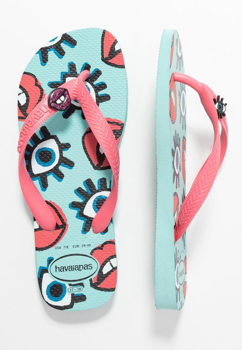 Havaianas - TOP FUN - T-bar sandals - ice blue