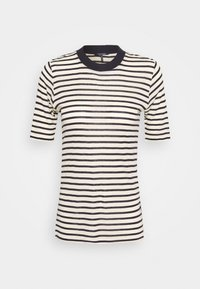 Scotch & Soda - STRIPED TEE WITH HIGH NECK - T-shirt print - combo - 0