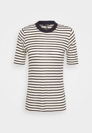 STRIPED TEE WITH HIGH NECK - Triko s potiskem - combo