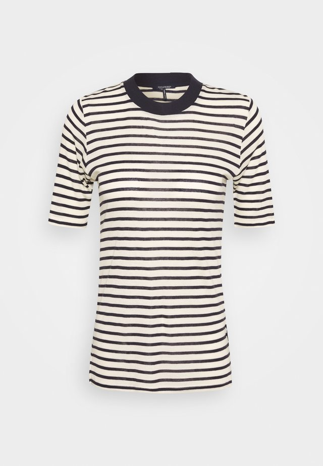 STRIPED TEE WITH HIGH NECK - Print T-shirt - combo
