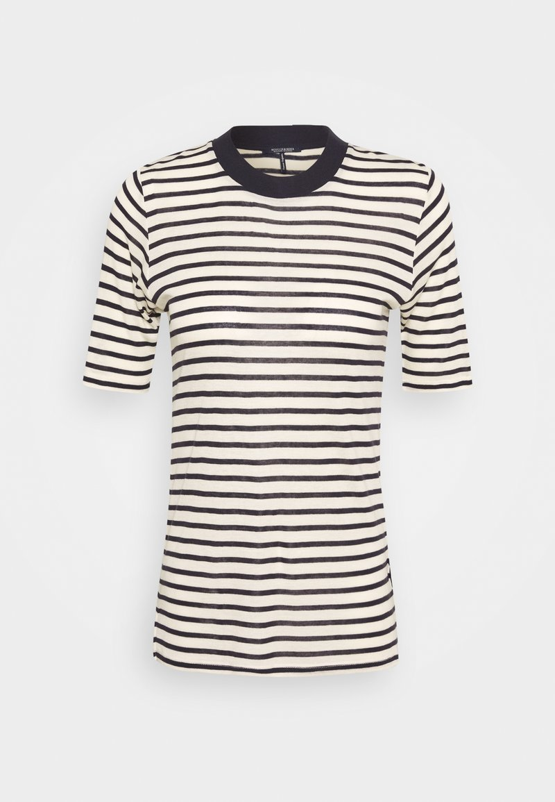 Scotch & Soda - STRIPED TEE WITH HIGH NECK - T-shirt print - combo