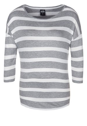 T-shirt à manches longues - grey/white