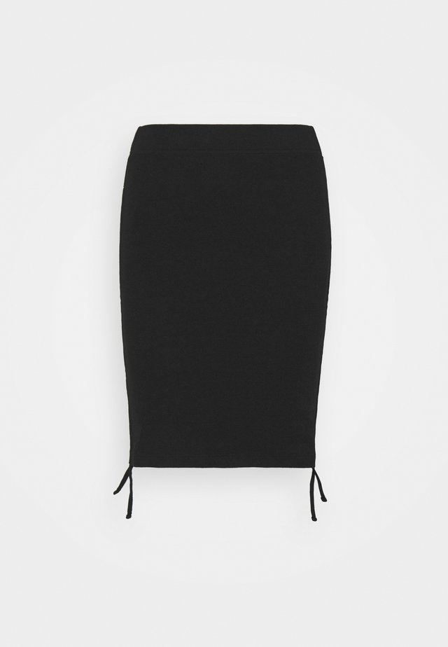 NMSTINE ROUCHING SKIRT - Kynähame - black