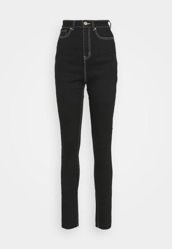 CONTRAST STITCH SINNER - Jeans Skinny Fit - black
