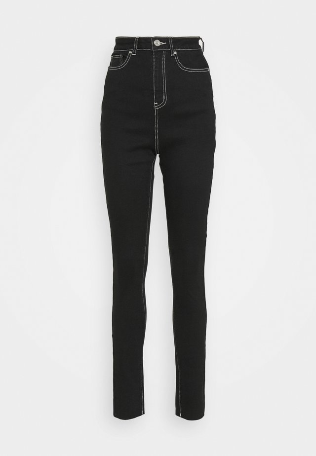CONTRAST STITCH SINNER - Jeans Skinny Fit - black