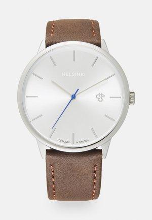 KHORSHID HELSINKI UNISEX - Hodinky - silver-coloured/brown