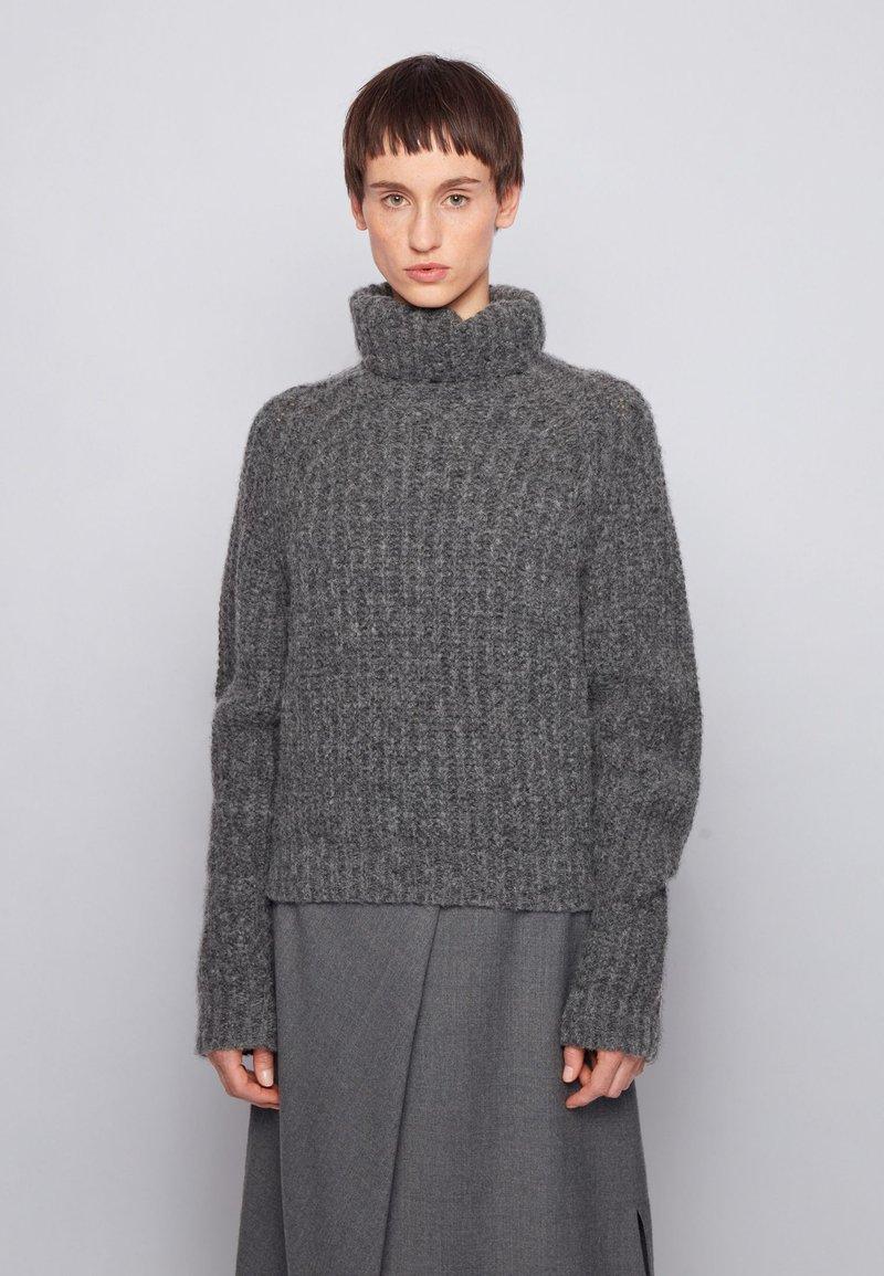 BOSS - Strikpullover /Striktrøjer - grey