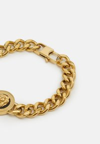 Guess - LION COIN CHAIN BRACELET UNISEX - Pulsera - gold-coloured/black - 1