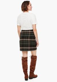 s.Oliver - A-line skirt - khaki check - 2