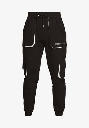 TROUSERS WITH COLOUR CONTRASTS - Cargo trousers - black