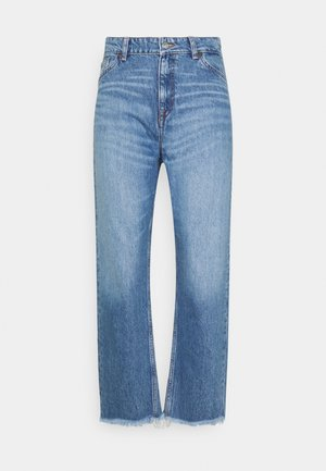 CAMIE CROPPED RAW HEM - Jeans relaxed fit - semi light blue broken in