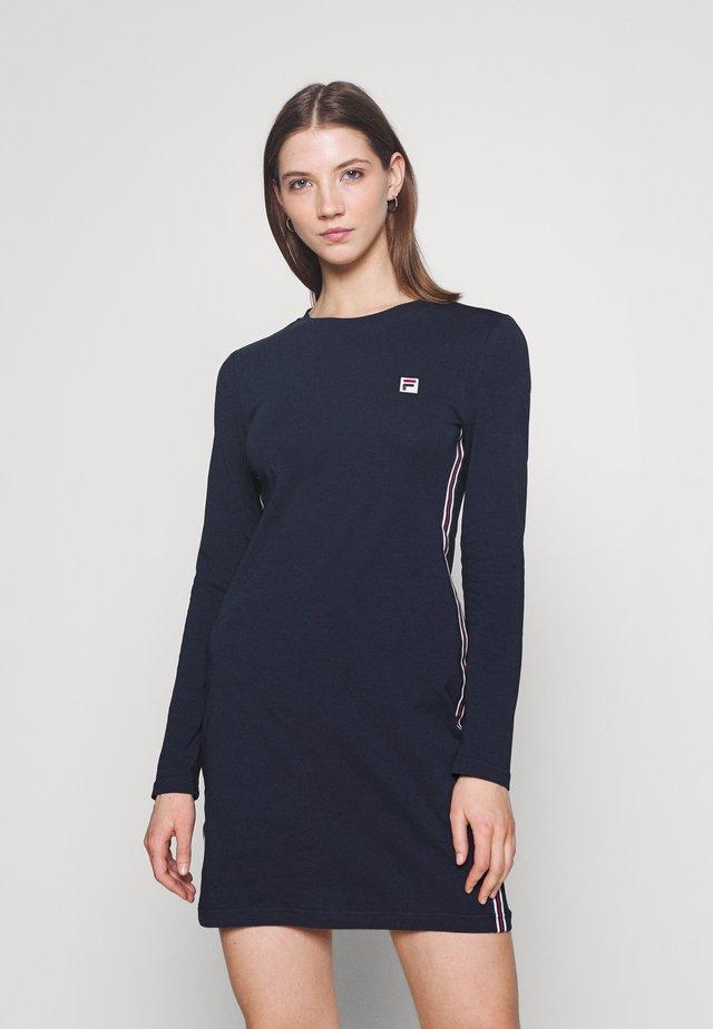 HESPER LONG SLEEVE DRESS - Žerzejové šaty - black iris