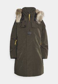 G-Star - TECH PADDED HOODED FAUX FUR LONG - Zimní kabát - asfalt - 6