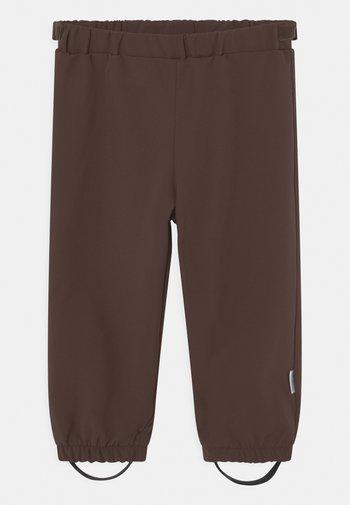 AIAN PANTS UNISEX - Rain trousers - dark choco