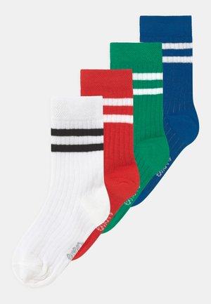 STRIPES 4 PACK - Strumpor - red/white/green/blue