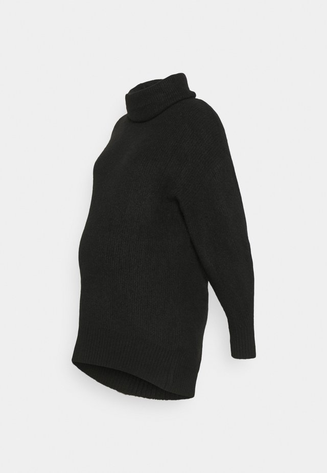 FASH SLOUCHY ROLL NECK - Strikkegenser - black