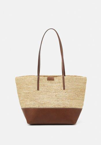 LAURI - Tote bag - maroon brown