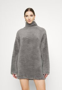 Nly by Nelly - TURTLENECK DRESS - Day dress - steel grey - 0