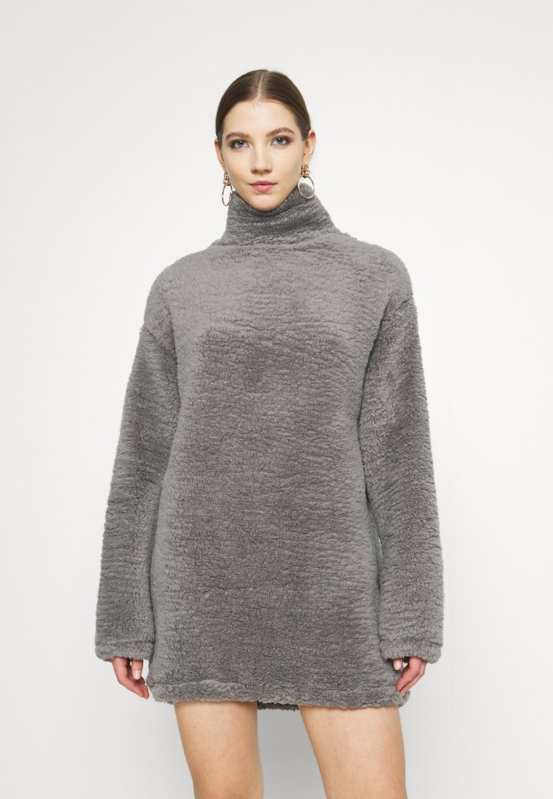 Nly by Nelly - TURTLENECK DRESS - Day dress - steel grey