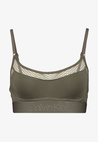 Calvin Klein Underwear - TONAL LOGO NEWNESS UNLINED BRALETTE - Topp - dark green - 4