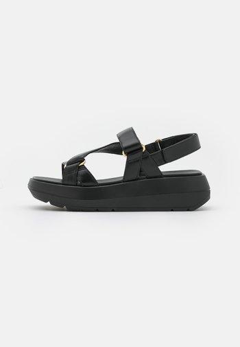 MOXIE SPORT - Sandály na platformě - black