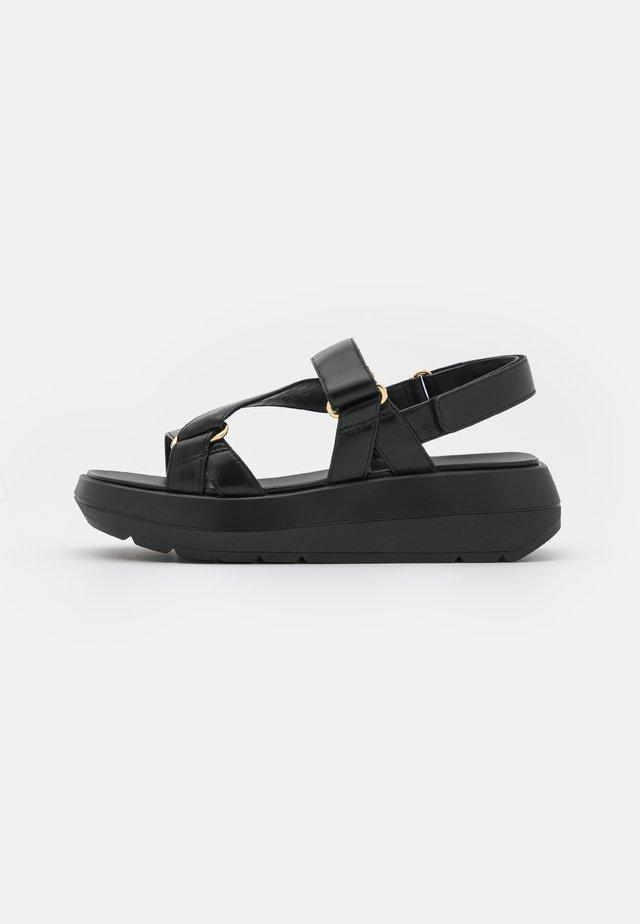 MOXIE SPORT - Korkeakorkoiset sandaalit - black