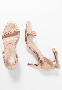 Dorothy Perkins - SLING PRETTY TRIM MID HEIGHT  - Sandaler med høye hæler - rose gold - 3