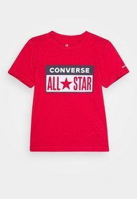 Converse - LICENSE PLATE TEE - T-shirt z nadrukiem - university red - 0