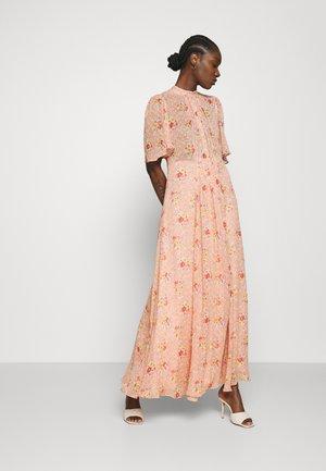 DELICATE SEMI BOWTIE DRESS - Maxi dress - apricot
