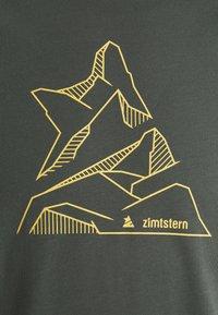 Zimtstern - PURE FLOWZ SHIRT 3/4 MENS - Sports shirt - gun metal/priate black - 2