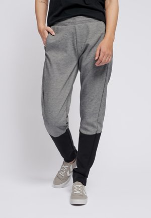 TAPERED - Tracksuit bottoms - grey melange