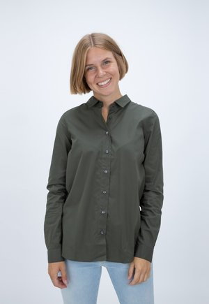 DEVIN - Button-down blouse - olive