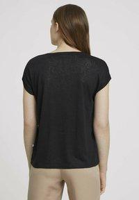 TOM TAILOR DENIM - Basic T-shirt - deep black - 2