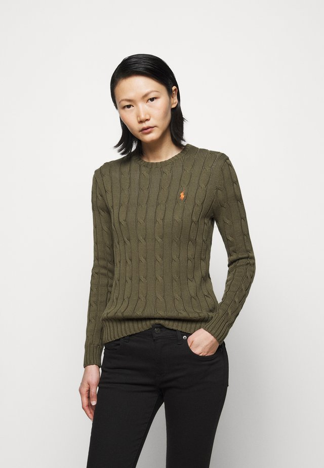 CLASSIC - Strickpullover - defender green
