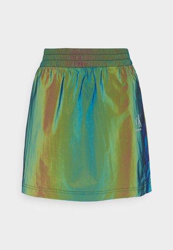 REFLECTIVE MINI SKIRT - Mini skirts  - multi-coloured