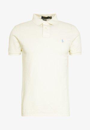 SLIM FIT MESH POLO SHIRT - Polo shirt - chic cream