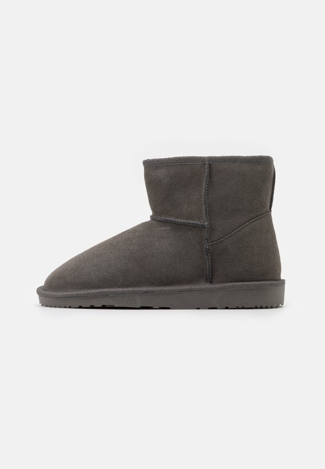 LEATHER - Winter boots - grey