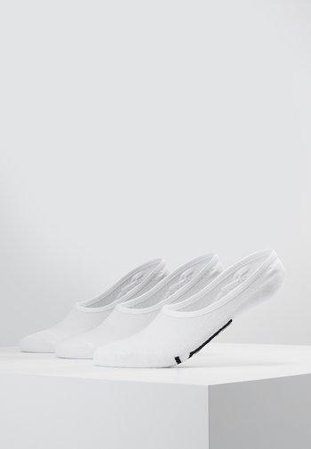UA CLASSIC SUPER NO SHOW (6.5-9, 3PK) - Calcetines tobilleros - white