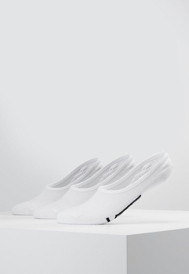 CLASSIC SUPER NO SHOW 3 PACK - Trainer socks - white
