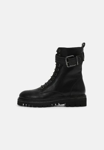 23 ZIP STREET - Šněrovací kotníkové boty - black